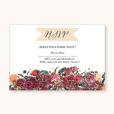 Coupon RSVP Romantic Flowers Recto