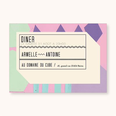 Coupon diner à personnaliser Flashy Eighties - face