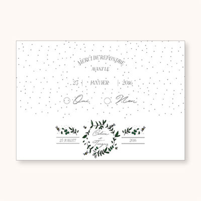 Coupon rsvp Cuty Calligraphy recto