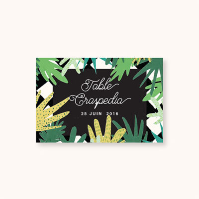 Nom de table à personnaliser de la collection Gatsby's Jungle