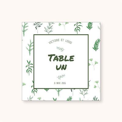 Nom de table à personnaliser Simply Botanic - recto