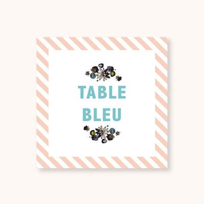 Nom de table Pastel Guinguette