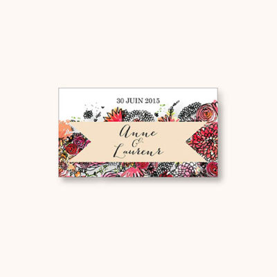 Stickers mariage Romantic Flowers