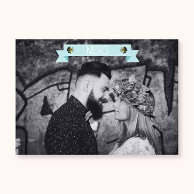 carte de remerciement Pastel Guinguette Recto
