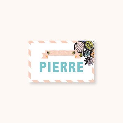 Marque-place Pastel Guinguette Recto