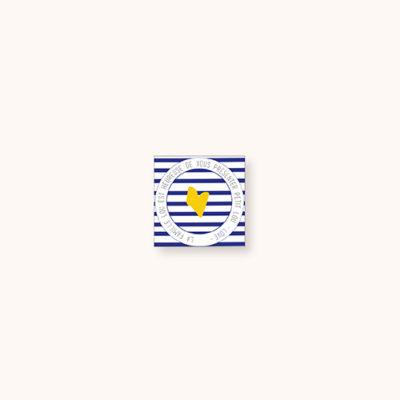 Stickers naissance Little sailor