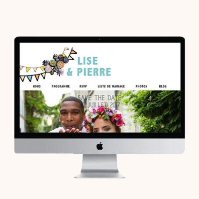 Site mariage Pastel Guinguette