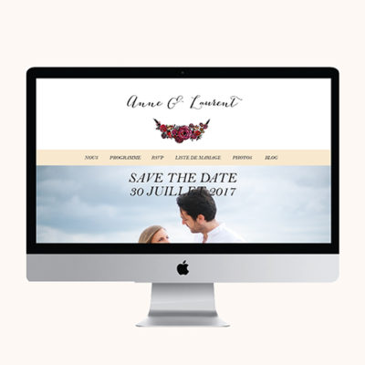 Site mariage Romantic Flowers